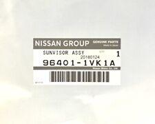 Genuine OEM Nissan 96401-1VK1A Driver's Sun Visor 10-13 Rogue 14-15 Rogue Select