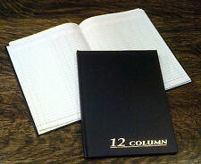 "Adams Account Book, 12-Column, 7""x9.25"", Black, 80 Pages, # ARB8012M, Ledger"