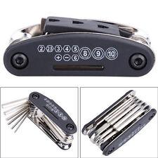 15 Multi Tool Bicycle Bike Allen Hex Keys Screwdriver Chain Link Tool MTB ROAD