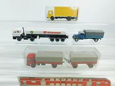 AI878-0,5# 4x Wiking H0/1:87 camion modèle MAN,MB 3420,DAF BP Santos, Post 552