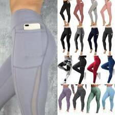 Women Sport Pants High Waist Yoga Fitness Leggings Running Elastic Gym Trousers