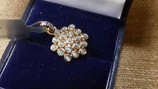 Beautiful Cats Eye Alexandrite and Diamond Pendant