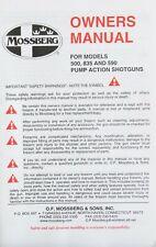 Mossberg Models 500 835 And 590 Pump Action Shotguns Hunting Owners Manual