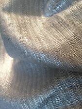 """ SASSIERE "" METALLIC SILVER LINEN WIDE WIDTH FABRIC - DESIGNERS GUILD 1.7 YDS"