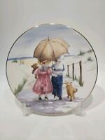 """Royal Worcester One Glorious Summer Collection Plate """" The Parasol"""""""