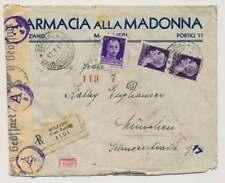 Italien Zensur-Einschreiben-Brief BOLZANO 17.3.43 n. MÜNCHEN (40769)