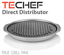 TECHEF - TRUE GRILL PAN - Stovetop Nonstick Indoor/Outdoor Smokeless BBQ Grill