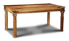 DINING ROOM FURNITURE JALI LIGHT SHEESHAM 160CM DINING TABLE  (J41L)