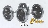 Peco RO-7 3 Hole Disc Wagon Wheels And Bearings 7mm O Gauge