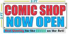 COMIC SHOP NOW OPEN Banner Sign NEW Larger Size Best Quality for the $$$