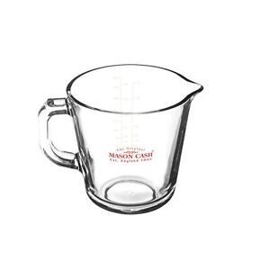 Mason Cash Essentials Küche Kochen Abmessen Glas Hitzebeständig Krug 0.5Ltr