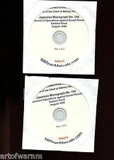 Japanese Report CD-rom # 154 Opers against Russia -Eastern Front Aug 1945 2 CDs