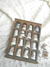 MOTHERS DAY MUST! LOT OF 17 PORCELAIN THIMBLES APOSTLES HOME SWEET HOME   # 5558