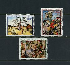 P367  Chad  1970   art paintings  3v.  MNH
