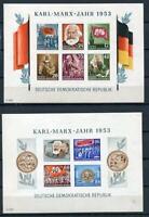 Germany 1953 Souvenir Sheets Mi Block8-9B Sc144a,146a CV €240 Imperf MNH G1230