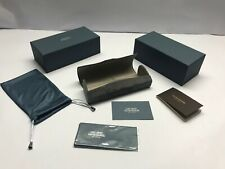 Case CARY GRANT Oliver Peoples Hard Sunglasses Eyeglasses Glasses Authentic Grey