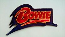 DAVID BOWIE MUSIC PATCH:- SEW / IRON ON:- POP PUNK ROCK HEAVY METAL