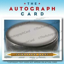 The Autograph Card Blank Signature cards 25 HOCKEY Puck
