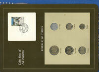 Coin Sets of All Nations Cyprus w/card UNC 1983-1990 1,10,20 Cents 1990 8JL87