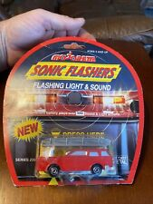 Vintage Majorette Red Fire Ladder Truck Die Cast Car Sonic Flashers Rare New
