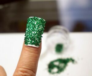 GREEN CRYSTALS FOR NAILS 1000 Swarovski Pixiecrystals 3D Nail Art Small Gift