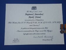 More details for mention in despatches certificate - ww1 customised replica with inscription