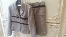 Classic Valentino Brown Tweed Suit