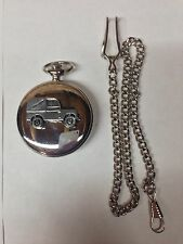 Land Rover Series 1 SWB ref112 emblem on polished silver case pocket watch