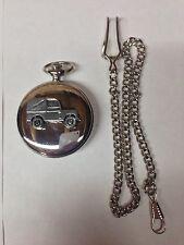 Reloj de bolsillo Land Rover Serie 1 SWB ref112 emblema en caso de plata pulida