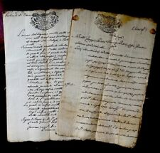 Collection of TWO Old Historical Manuscripts 1784 & 1791