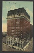 1912 LA SALLE HOTEL CHICAGO ILL POSTCARD