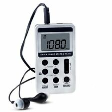 AM FM PERSONALE SPORT Radio Stereo Portatile Tasca Digitale Display auricolari