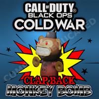 Call of Duty Black Ops Cold War Clap Back Monkey Bomb Weapon Charm Walmart DLC