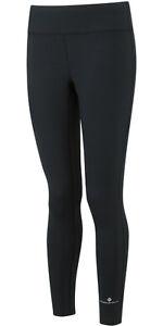 RONHILL Women's CORE Run TIGHTS Sports Running Track Gym Pants Black LP£32