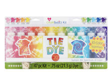 🌺🐬Create Basics Tie Dye Kit, 47 PIECES! 10 Color Super Pack Kid Summer Party🐬