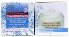 2 Dead Sea Day Cream Hyaluronic Acid Nourishing Smoothing Anti Wrinkle 1.69 oz