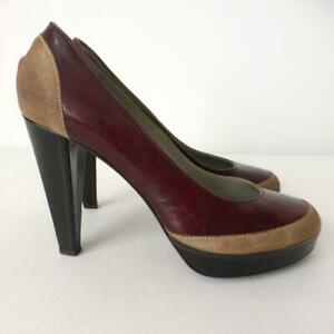 BOSS HUGO BOSS Leather and Suede Pumps Size 38 Made in Italy