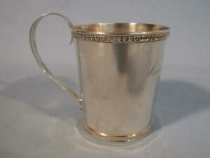1864 PURE COIN SILVER CUP -  CHILD / CHRISTENING PRESENTATION
