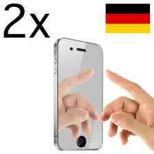 2x iPhone 4 4S Mirror Display Schutzfolie Spiegelfolie Screen Protector Guard 4G