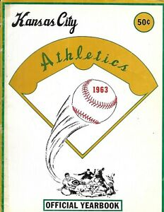 1963 Kansas City A's Athletics Yearbook Tony LaRussa Rookie NICE!!