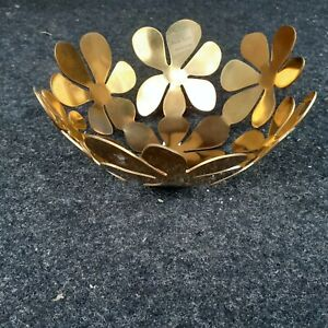 ikea stockholm 20325 bowl  21 cm gold finish steel