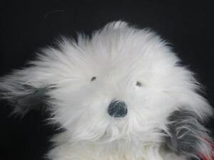 NEW VINTAGE RUSS SHAGS SHEEPDOG PUPPY # 259 WHITE GRAY HANDCRAFTED PLUSH SOFT