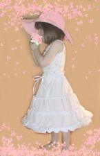 Baby Toddler 18 mon 2T Hoopskirt 3 Hoops 100% Cotton Skirt 4 Little Flower Girl