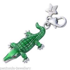 Tingle Crocodile Sterling Silver Charm with Gift Bag and Box SCH208