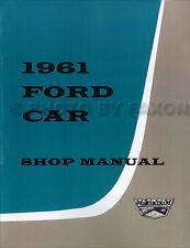 1961 Ford Repair Shop Manual Galaxie Sunliner Fairlane Starliner Service Book