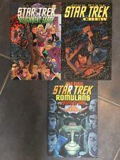 Lot 3 GN Star Trek By John Byrne : Crew, Romulans, Assignment Earth COMICS TPB