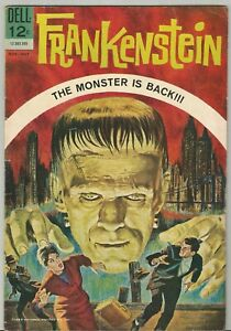 FRANKENSTEIN # 1 (Dell, 1963) The Monster is BACK!  Painted cover by Vic Prezio!