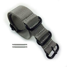 5 Ring Ballistic Army Military Grey Nylon Replacement Watch Band Strap PVD