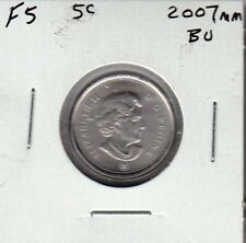 F5 CANADA 5 CENTS 5c COIN 2007mm BRILLIANT UNCIRCULATED CHARLTON $15.00