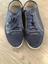 PAUL SMITH Navy Blue leather BASSO trainers shoes sneakers UK 7 EU 41 US 8